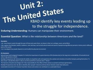Unit 2: The United States