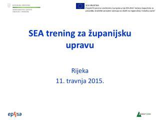 SEA trening za županijsku upravu