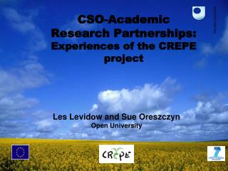 CSO-Academic  Research Partnerships: Experiences of the CREPE project