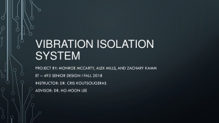 Vibration and isolation