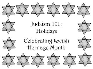Judaism 101:  Holidays