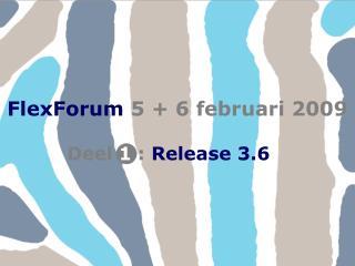 FlexForum 5 + 6 februari 2009