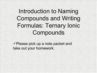 Introduction to Naming Compounds and Writing Formulas: Ternary Ionic Compounds