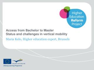 Access from Bachelor to Master Status and challenges in vertical mobility