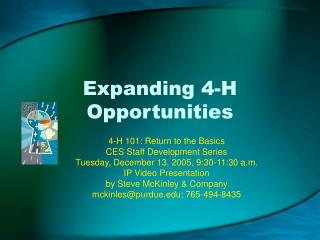 Expanding 4-H Opportunities