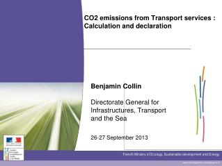 CO2 emissions from Transport services : Calculation and declaration
