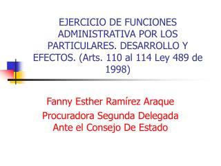 Fanny Esther Ramírez Araque Procuradora Segunda Delegada Ante el Consejo De Estado