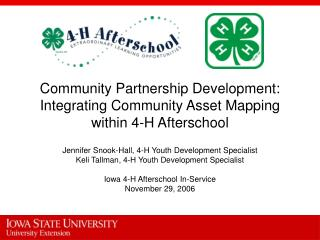 Community Partnership Development: Integrating Community Asset Mapping within 4-H Afterschool