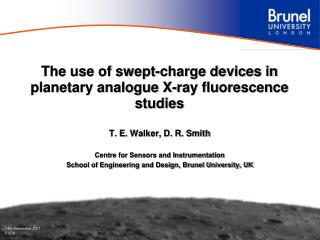 The use of swept-charge devices in planetary analogue X-ray fluorescence studies