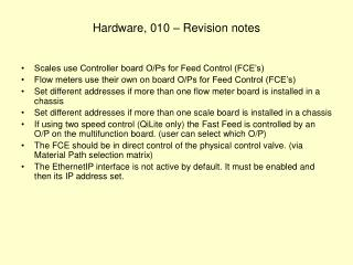 Hardware, 010 – Revision notes