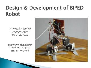 Design & Development of BIPED Robot