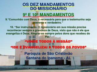 OS DEZ MANDAMENTOS DO MISSION RIO