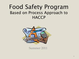 Food Safety  Program Based on Process Approach to HACCP
