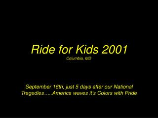 Ride for Kids 2001