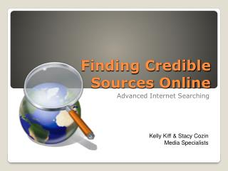 Finding Credible Sources Online