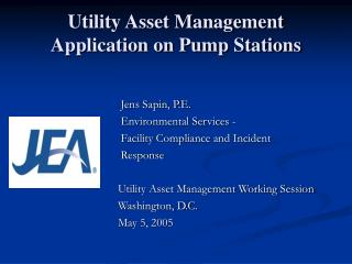Utility Asset Management Application on Pump Stations