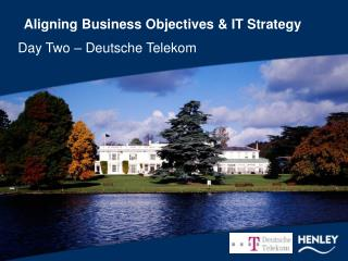 Aligning Business Objectives & IT Strategy