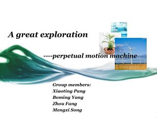 ----perpetual motion machine