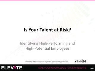 Is Your Talent at Risk?