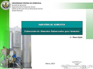 UNIVERSIDAD CENTRAL DE VENEZUELA Facultad de Agronomía Departamento de Producción Animal