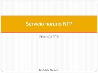 Servicio horario NTP