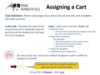 Assigning a Cart