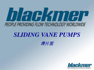 SLIDING VANE PUMPS 滑 片泵