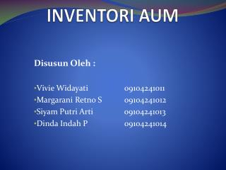 INVENTORI AUM
