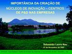 IMPORT NCIA DA CRIA  O DE N CLEOS DE INOVA  O   CENTROS DE PD NAS EMPRESAS