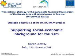 Strategic objective 2 of the DATOURWAY project: Supporting social-economic background for tourism