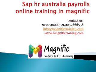 sap hr australia payrolls online training