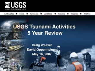 USGS Tsunami Activities 5 Year Review