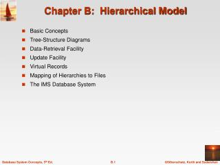 Chapter B:  Hierarchical Model
