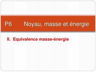 P6 Noyau, masse et énergie