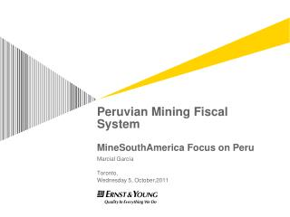 Peruvian Mining Fiscal System MineSouthAmerica Focus on Peru