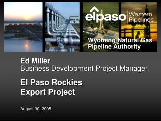 Ed Miller Business Development Project Manager