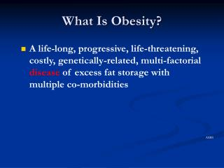 What Is Obesity?