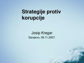 Strategije protiv korupcije