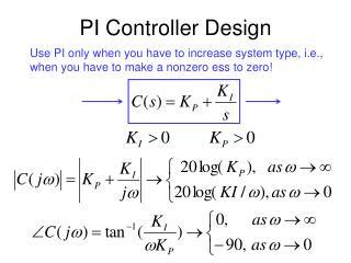PI Controller Design