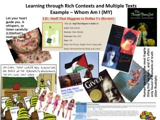 Learning through Rich Contexts and Multiple Texts Example – Whom Am I (MY)