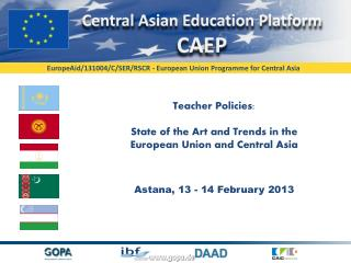 Teacher Policies: State of the Art and Trends in the European Union and Central Asia