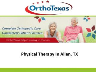 Physical Therapy In Allen, TX