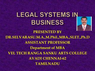 LEGAL SYSTEM IN BUSINESS