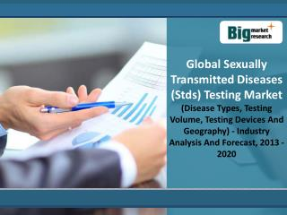 Global Sexually Transmitted Diseases (Stds) Testing Market