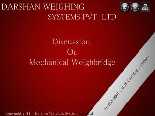 Mechanical weighbridge manufacturer and exporter Ahmedabad