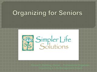 Organizer for Seniors