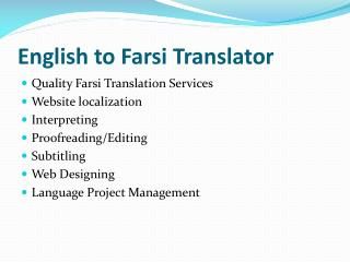 English to Farsi translator