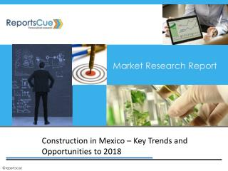 Mexican Construction Market 2018 Forecasts