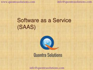 Saas overview by quontra solutions